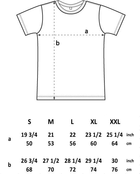 vans t shirt size chart