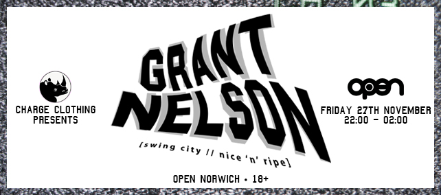charge clothing presents Grant nelson